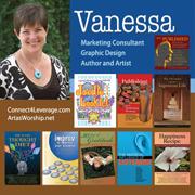 Vanessa FB profile pic w books