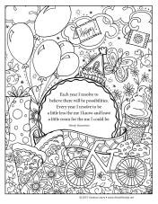 Birthday coloring pg VLowry