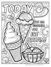 Ice Cream coloring pg VLowry
